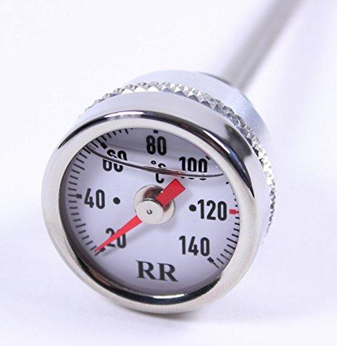 RR Öltemperatur Anzeige Ölthermometer Direktanzeiger für 1061001x KFX 700 WEISS