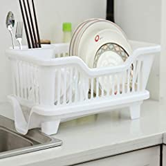 ☺ Save Your Space: Use This Dish Drying Rack On The Counter To Make It Easier To Drying Cutlery And Supplies, Saving A Lot Of Space And time. This Dish Rack Can Handle Assorted Dinnerware Such As Plates, Bowls, Cups, Cutting Boards And Specialty item...