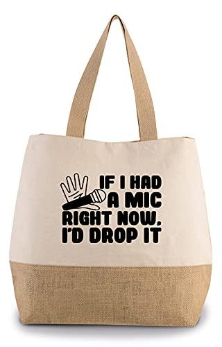 Hippowarehouse If i had a mic right now, I'd drop it Premium reusable eco friendly 100% cotton tote shopper bag for life 43cm x 33cm x 17cm