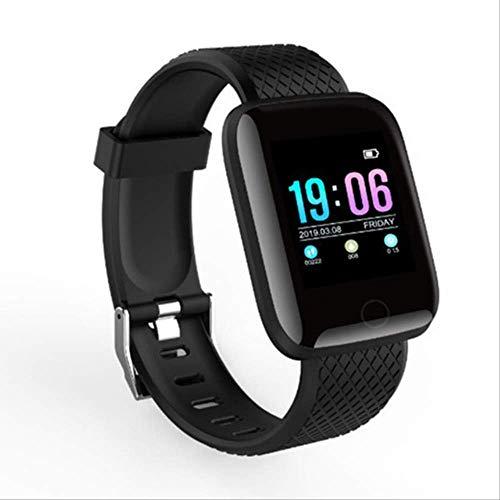 KKART Smart Fitness Band Smartband Langer Standby-Modus Mehrsprachiger Fitness-Tracker mit großem Speicher Smart-Armband Blutdruckuhr Pulsmesser Sport-Armband Schwarz