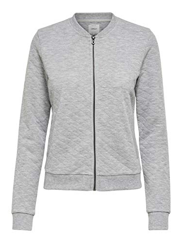 ONLY Female Sweatshirt Bomber- XSLight Grey Melange