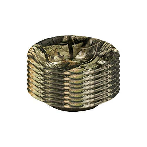 Havercamp Next Camo Party Paper Bowls | 8 Count | Great for Hunter Themed Party, Camouflage Motif, Birthday Event, Graduation Day, Outdoor Family Picnic