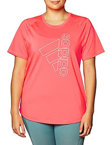 adidas Damen T-Shirt Tech Bos T-Shirt, Signal Pink, S, GK0402