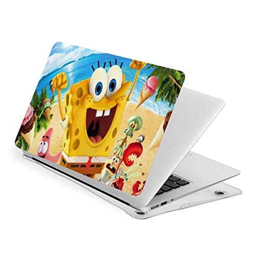 The Spongebob Laptop Case MacBook Non-Slip Durable Waterproof Plastic Hard Shell Case,for MacBook New Air 13/Air 13/15 Inch/Touch 13/15inch PVC Laptop Protective Cover touch13