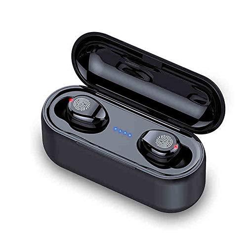 XZJJZ Auriculares Bluetooth, inalámbricos, táctiles automáticos, emparejamiento de doble oído, llamadas de alta definición, impermeables y de larga duración, adecuado para conducir y correr