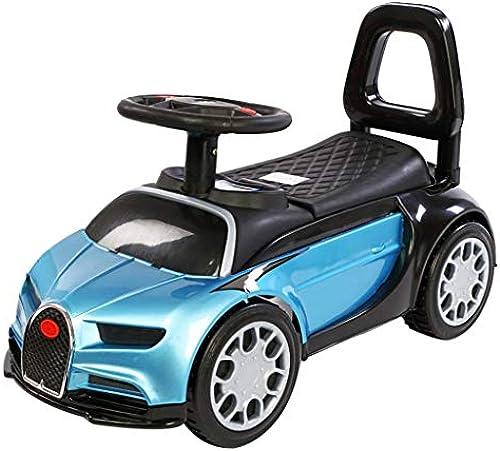 Kinder Yo Car Twist Auto 2-3 Jahre alt Baby Slide Balance vierr iges Yo Car Kinder Slide Walker Xuan - worth having (Farbe   Paint Blau, Größe   A)