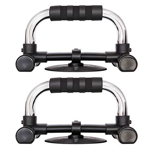 CLISPEED - 2 barras push up para ejercicios abdominales de entrenamiento en suelo negro