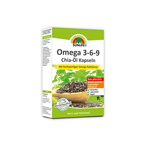 SUNLIFE Omega 3-6-9 Kapseln Chiaöl, 21 g