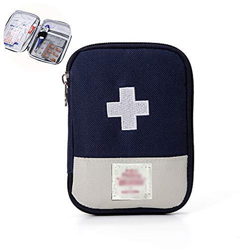 TOPFAY Kit de Supervivencia de Viaje de Emergencia portátil Inicio botiquines (Azul Oscuro) Durante situaciones de Emergencia