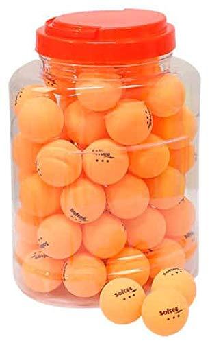 Softee Juego 60 Pelotas Tenis de Mesa 3 Estrellas Naranja