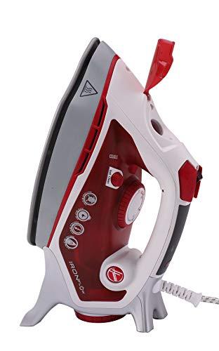 Hoover Tif2800 011 IRONFLOW TIF 2800-Tecnología Airflow de ventilación integrada. Potencia Sistema Antigoteo & Autolimpieza, 2800 W, 0.4 litros, Rojo race transparente