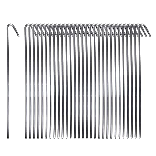 Pinnacle Mercantile 30 Pack Tent Stakes Metal Garden Edging Fence Hooks Pegs Christmas Decoration...