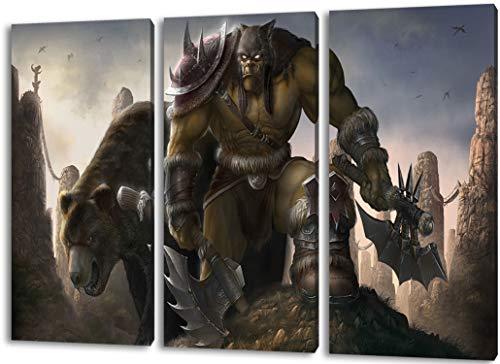 World of Warcraft schilderij op doek, 3-delige (Totale Grootte: 47.2