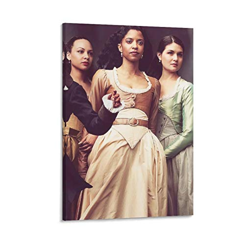 Schuyler Sisters Hamilton Decor Poster on Canvas Wall Art work for Living Room Bedroom Home Decorations Ready to Hang 08x12inch(20x30cm)