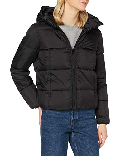 TOM TAILOR Denim Damen Pufferjacke Jacke, 14482-Deep Black, XL
