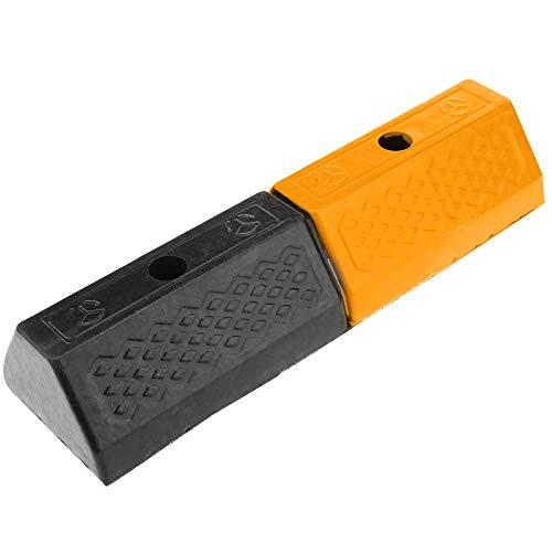 PrimeMatik - Tope de Suelo para Ruedas de Parking Aparcamiento de Goma 47 cm