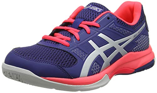 Asics Gel-Rocket 8, Scarpe Indoor Multisport Donna, Blu (Blue Print/Silver 400), 39 EU