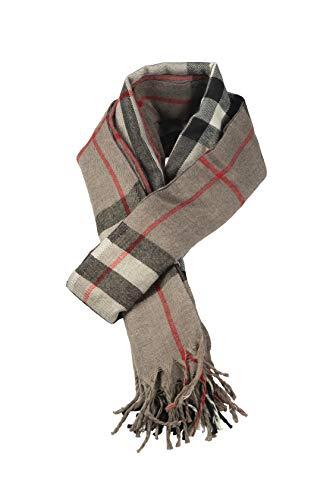 Bufanda de invierno súper suave con tacto de cachemira, unisex, color gris claro