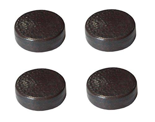 Hentschke Keramik Poten voor plantenbak/plantenpot 4 stuks Ø 5 cm, bruin rustiek, 004.048.05 Made in Germany