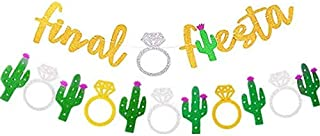 Gold Final Fiesta Bachelorette Party Decorations Banner 2 Pack - Hen Party Decorations Mexican Fiesta Theme Banner Sign for Bridal Shower and Bridal Party Accessories