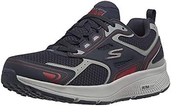 Skechers mens Go Run Consistent - Performance Running & Walking Shoe Sneaker, Navy/Red, 11 US