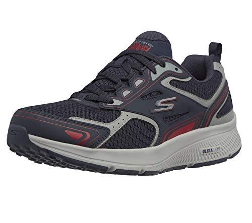 Skechers Go Run Consistent, Zapatillas para correr Hombre, Azul (Navy/Red), 44 EU