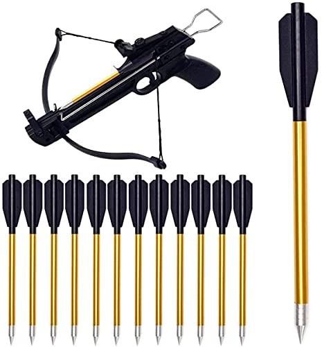 YAMAXUN Paquete 60 Pernos Ballesta, Pernos Ballesta Aluminio Flechas 6.3