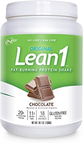 LEAN1 Chocolate Protein Powder Meal Replacement Shakes By Nutrition 53 Lactose Gluten Free with product image