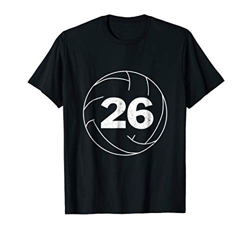 Volleyball Player Jersey Number 26 Graphic T-Shirt