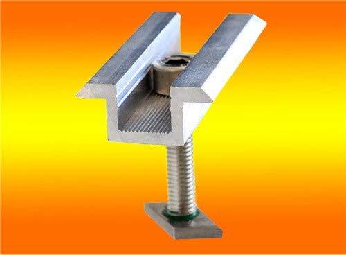 4 Modul Mittelklemmen Standard 35mm von bau-tech Solarenergie
