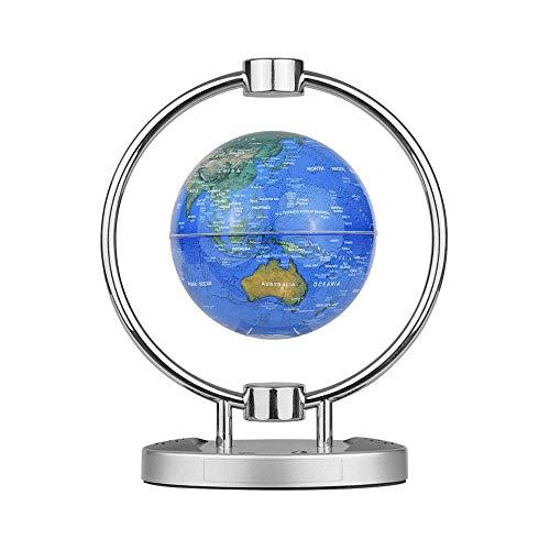 SCKL 6 inch magneet Leviation Globe, draadloze BT luidspreker floating-wereldkaart wereldkaart met kleurrijke LED-licht & basisstandaard