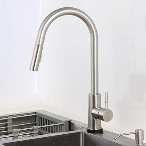 Tire sensor grifo de la cocina oro pulido control del sensor táctil mezclador del grifo del grifo del grifo de la cocina sensor táctil negro grifo de la cocina-níquel,Y1BLSETB8THNN