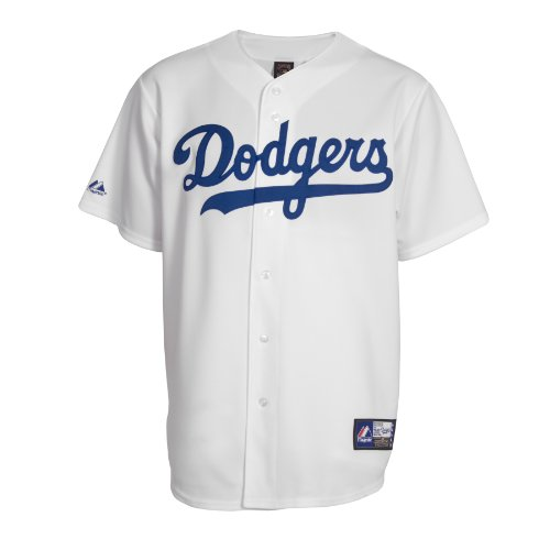 Majestic MLB Los Angeles Dodgers Cooperstown Replica Baseball-Trikot, Weiß, Größe L
