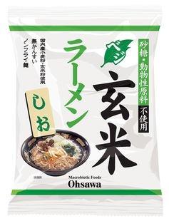 オーサワのベジ玄米ラーメン(しお) 112g(うち麺80g)×30個 JAN:4932828066875