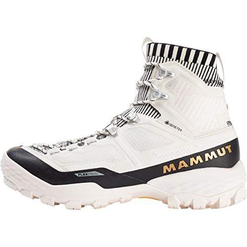Mammut Damen BOTA DUCAN Knit HIGH GTX Bootsschuh, Bright White/Black, 41 1/3 EU