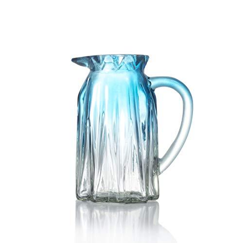Ekirlin Glasvase in Becherform,Blaue Vasen für Tischpflanzen,Glasvasen für Hochzeiten, Events,Dekoration,Arrangements,Büro,Schreibtisch oder Zuhause,Bücherregal