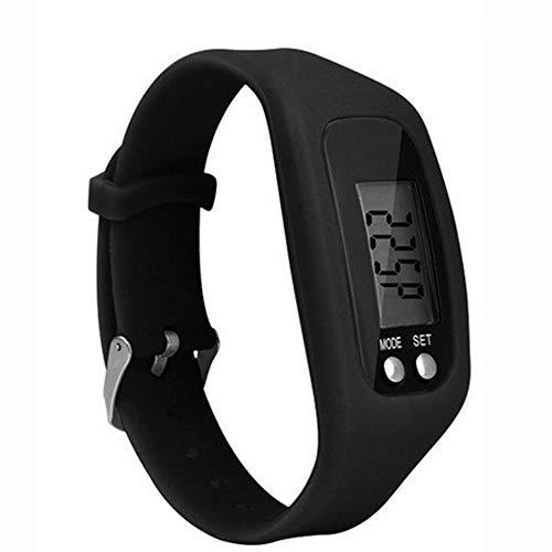 #N/D Pulsera multifuncional del reloj del deporte del podómetro del LCD de Digitaces de la ejecución del paso caminando la distancia de la pulsera