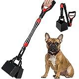 Nasjac Recogedor de Agua para Perros, 32 Pulgadas, Mango Largo, para Mascotas, Fondo Plano, Rastrillo Portátil para Recoger Desechos de Caca con Resorte Duradero para Cachorros de Perros Pequeños