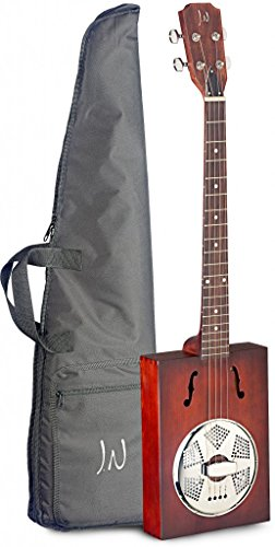 Zigarrenkiste-Akustikgitarre mit 4 Saiten, Resonator, massive Decke aus Fichte, auch Delta-Blues-Gitarre, CBG-Gitarre