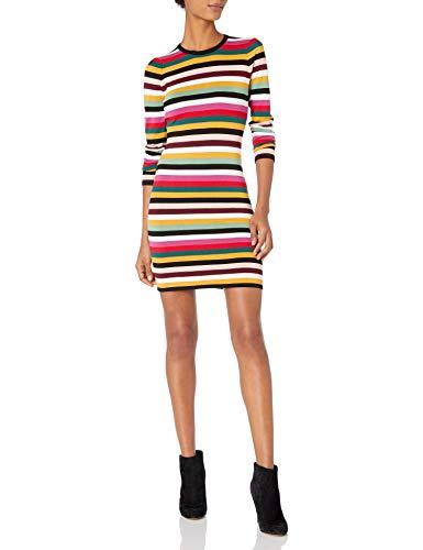 Ali & Jay Damen Fun Fridays Mini Kleid, Bunt gestreift, Mittel