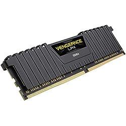 Corsair Vengeance LPX modulo da 8 GB (1 x 8 GB) DDR4 3200 (PC4-25600) C16 1,35 V, ottimizzato AMD Ryzen – Nero
