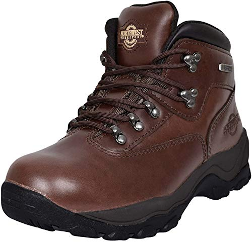MENS INUVIK FULLY WATERPROOF LACE UP WALKING/HIKING TREKKING BOOT BROWN 9