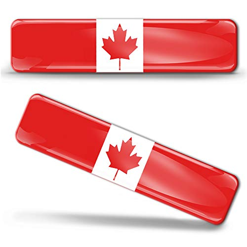 2 x sticker 3D gel silicone stickers Canada-vlag Canadese vlag vlag vlag autosticker F 3