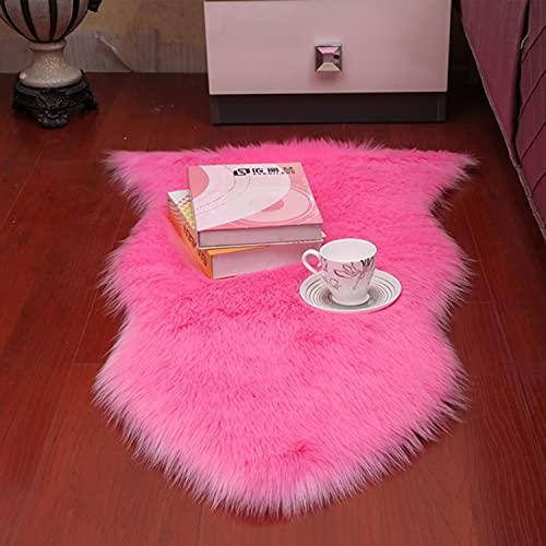 Fluffy Faux Fur Rug Super Soft Shaggy Couch Seat Cushion, Plush Area matta, Fårskinn Chair Cover Couch Seat för barnrum Dorm Decor,1P60*90