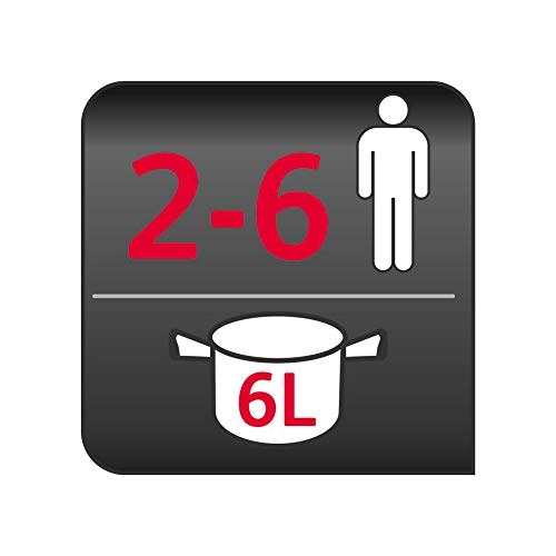 Moulinex Cookéo+ Multicuiseur Intelligent 100 Recettes préprogrammées Louche et Programme Weight Watchers Inclus 6L jusqu'à 6 Personnes 6 Modes de Cuisson Blanc 1600W YY4407FB