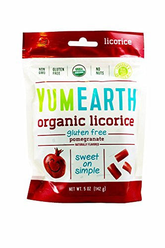 YumEarth Gluten-Free Licorice Pomegranate 5 Ounce - 2 Pack