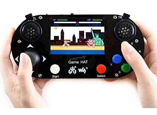 Game HAT Raspberry Pi Handheld Game Console Kit Portable Video Classic Gaming Console with 3.5' 480×320 IPS Screen Display Monitor for Raspberry Pi A+/B+/2B/3B/3B+/Zero/Zero W @XYGStudy