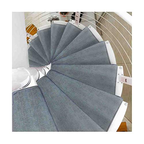 Stair Treads Carpet Turn Right Non Slip Spiral Stair Cushion Stair Treads Mats Pad Non-Slip Step Protection Rug Cover Stair Carpet 15 pcs