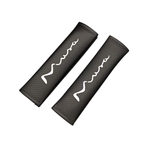 Imbottiture Cinture di Sicurezza per Lancia Musa, Protezioni per Cintura di Sicurezza Carbonio Fibra, Proteggere Il Collo E Le Spalle, Set di 2