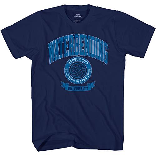 AVATAR The Last Airbender Shirt - Mens Waterbending University Short Sleeve Tee (Navy Blue, XX-Large)